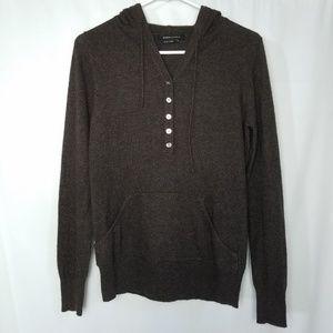 BCBG cashmere blend hooded pullover sweater